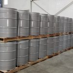 grey drums inside Jay Chemicals warehouse - new delivery
